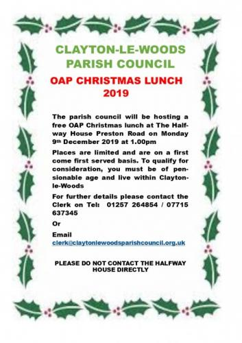 OAP Christmas Lunch 2019